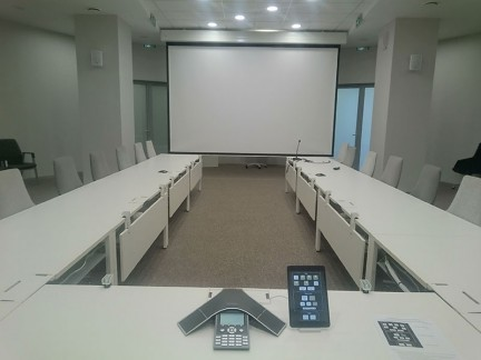 Oval meeting room in Skolkovo (Auvix). Russia, Moscow