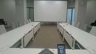 Oval meeting room in Skolkovo